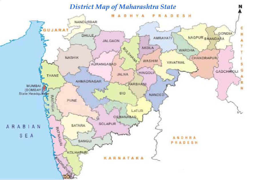 Maharashtra State Map - World map image in marathi